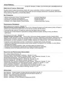 Clinical Operations Manager Sle Resume by Sle Resume January 2015