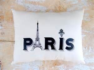 Paris Home Decor by Paris Pillow Eiffel Tower French Country Home Cottage
