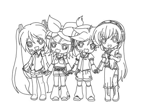 chibi miku coloring pages www imgkid com the image kid