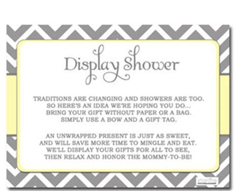 baby shower invitation wording for unwrapped gifts unwrapped gifts etsy
