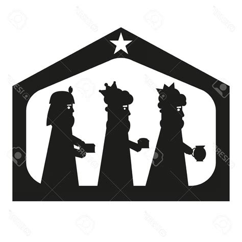 kings  wise men silhouette christmas nativity