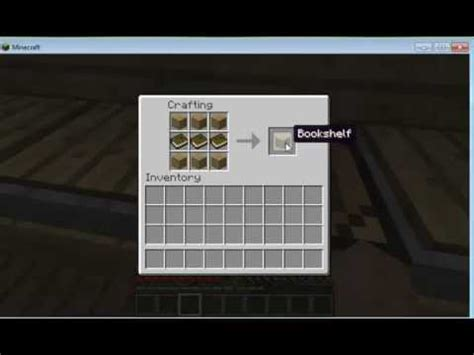 how to make a bookshelf in minecraft plus strategy guide