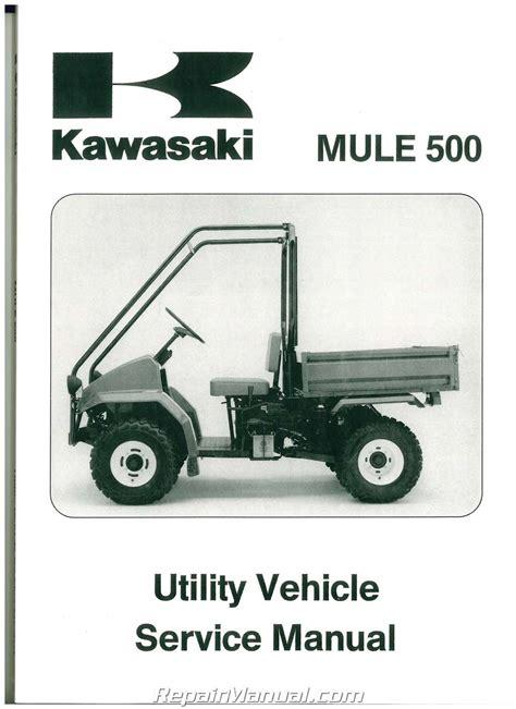 Kawasaki Mule 550 Manual 1990 2004 kawasaki kaf300a mule 500 520 550 service