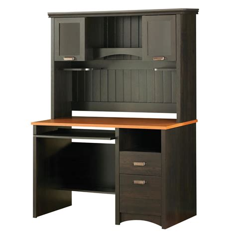 black desk with hutch south shore gascony desk hutch by oj commerce 516 36