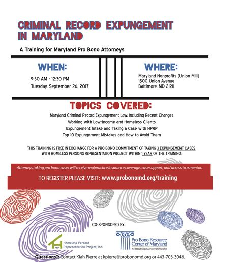 How To Expunge A Criminal Record In Md Criminal Record Expungement In Maryland Pro Bono Resource Center Of Maryland