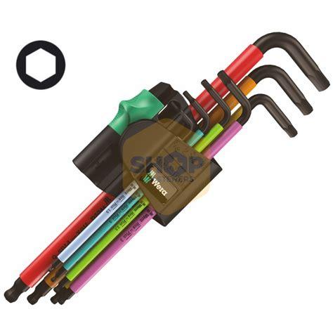 Hexagon Key Wrench Wera 950 Spkl 9 Hex Plus Made In Germany 2 wera 950 spkl arm end metric hexagon key sets shop4fasteners