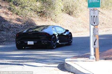 Tyga Lamborghini Tyga Leaves Lamborghini Dealership Driving Aventador Model