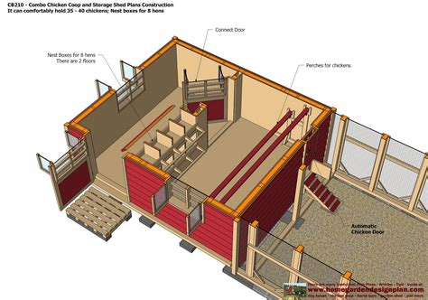 shed layout plans home garden plans cb210 combo plans chicken coop