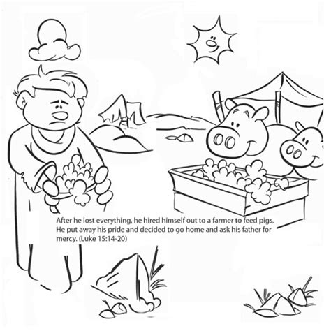 Free Coloring Pages Of The Lost Son Prodigal Coloring Pages