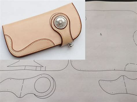 leather templates free leather craft patterns diy designs wallet paper