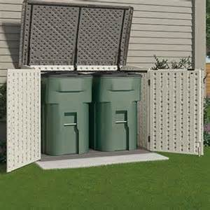 suncast storage garbage can shed resin holds two 96