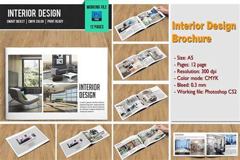 Interior Design Brochure V101 Brochure Templates Creative Market Interior Design Brochure Template Free