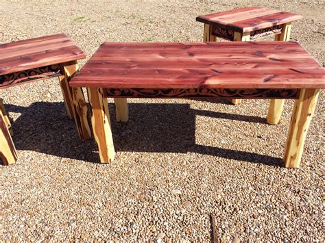 Cedar Coffee Table Aromatic Cedar Coffee And End Table Set With Western Belt