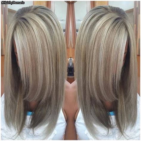 hiding grey in dark brown hair best highlights to cover gray hair wow com image