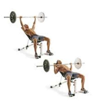 chest press on bench barbell incline press for developing upper chest make