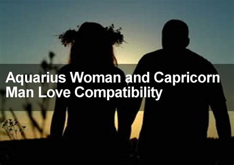 aquarius woman capricorn man sexual love marriage