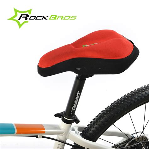 cycle seat cover gel sale rockbros 3d silicone bicycle saddle gel pad