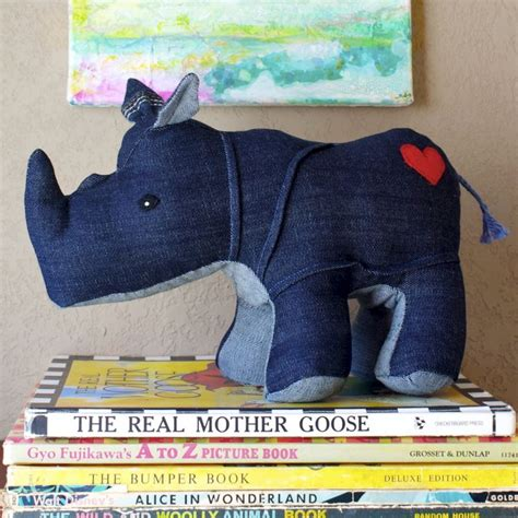 Rhino Handmade - rumble the rhino handmade plush rhino created out of