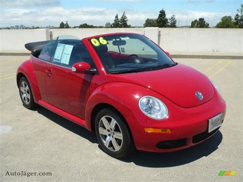 convertible volkswagen 2006 volkswagen beetle convertible red