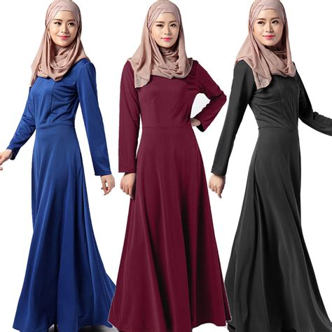 ethnic style abaya muslim dress turkish clothing