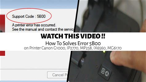 reset printer ix6560 canon service tool how to solves error 5b00 on printer
