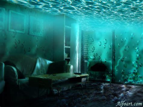 water room underwater room in adobe photoshop