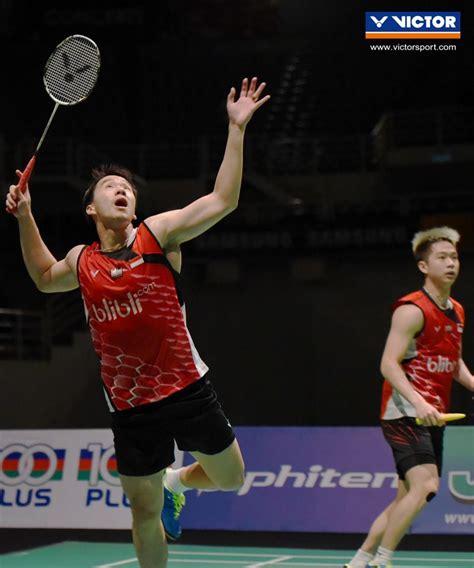 Sepatu Badminton Gideon generasi selanjutnya bersinar di victor malaysia masters