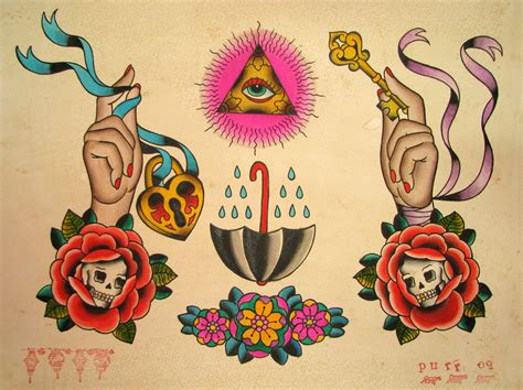 old school tattoo flash all seeing eye purr