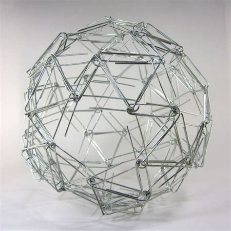 Paper Snub Dodecahedron - paperclip snub dodecahedron sculpture by zachary abel