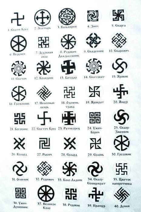 ancient symbols tattoo designs slovensk 233 slovansk 233 symboly slavic slovak symbols