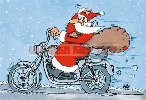 Motorrad Weihnachten Bilder by Klappkarte Weihnachten Weihnachtsmann Motorrad U63 11