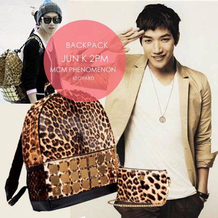 Backpack Mcm Purple Taemin Shinee mcm backpack kpopshophouse