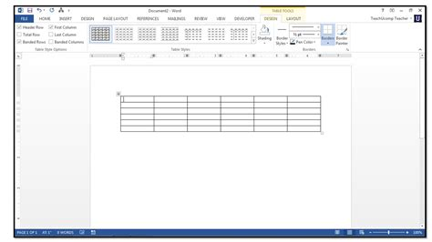 Table In Word how to insert tables in microsoft word 2013 teachucomp inc
