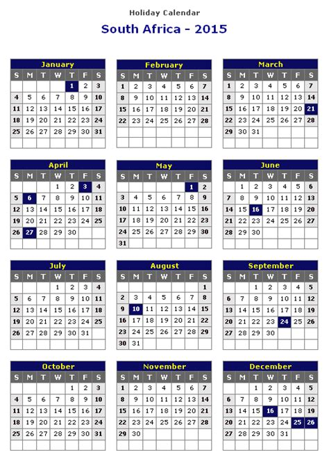 printable year planner 2015 south africa south african calendar 2014 with public holidays free