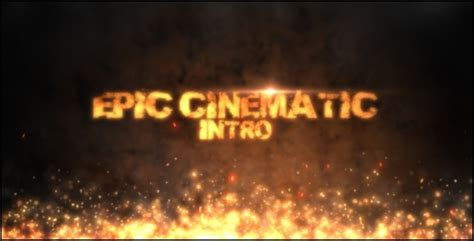 Epic Cinematic Intro By Tyrproductions Videohive Cinematic After Effects Template