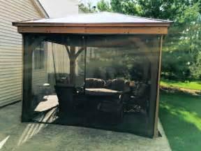 Deck Awnings With Mosquito Netting Gazebo Screens Gazebo Curtains