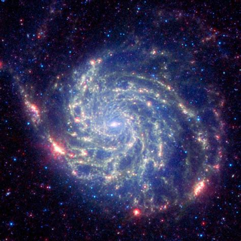 Space Images Spitzer Space Telescope's View of Galaxy Messier 101