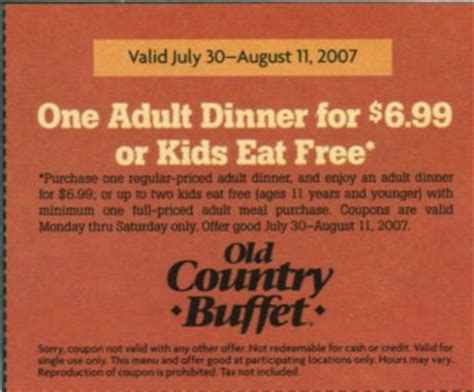 country buffet coupons 2015 country buffet coupons release date price and specs