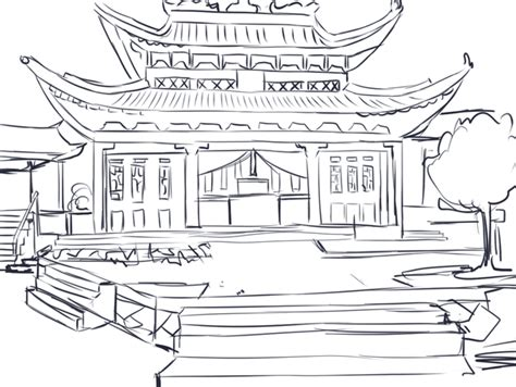japanese temple coloring page japanese temple drawing design gallery