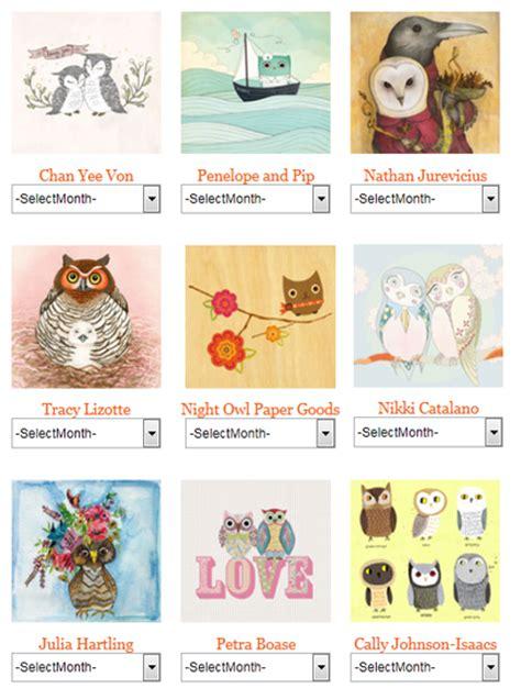 owl calendar template the owl and the elephant free printable owl calendar my