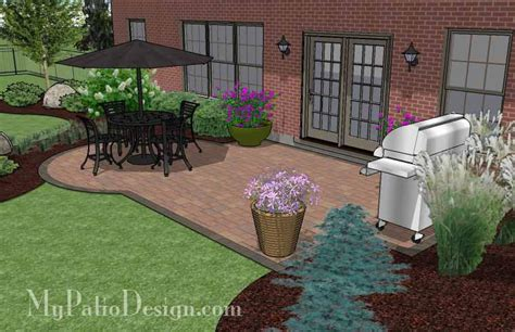 Small Paver Patio Small Paver Patio Design Patio Layout And Material List Mypatiodesign
