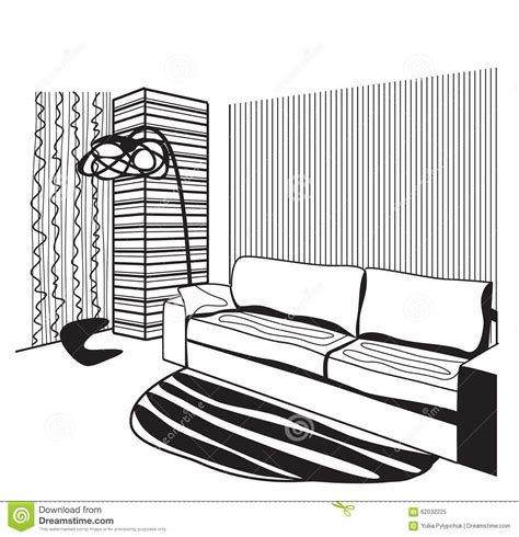 exiftool no writable tags 28 dash in interior room interior sketch window and furniture stock vector