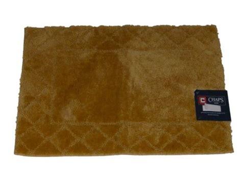 chaps bath rugs chaps ochre yellow gold plush pile throw rug 17x24 skid resistant bath mat ebay