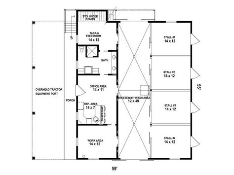 stable floor plans barn floor plan with living quarters new barn ideas