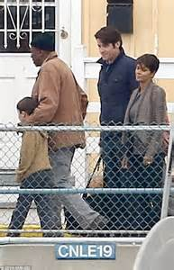 she s out of this world halle berry cosies up to her onscreen husband