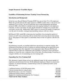 feasibility study template small business 11 sle feasibility report free sle exle