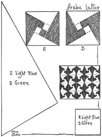arabic lattice quilt pattern 101 patchwork patterns by ruby short mckim cutting patterns