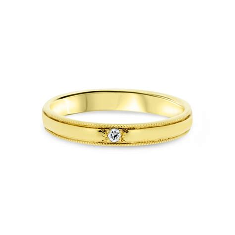 9ct yellow gold infinity symbol promise engagement ring