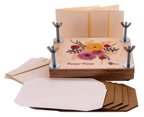 wooden kit flower press deluxe wooden kit time to create
