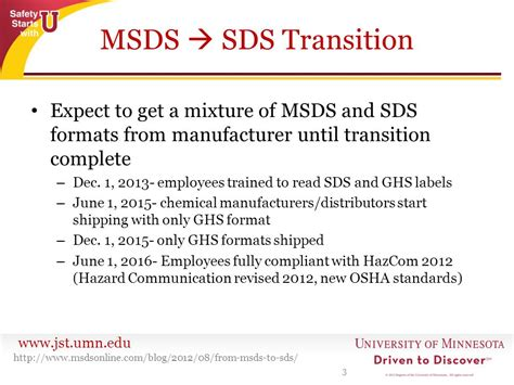 how many sections in sds msds vs sds what s the difference ppt download